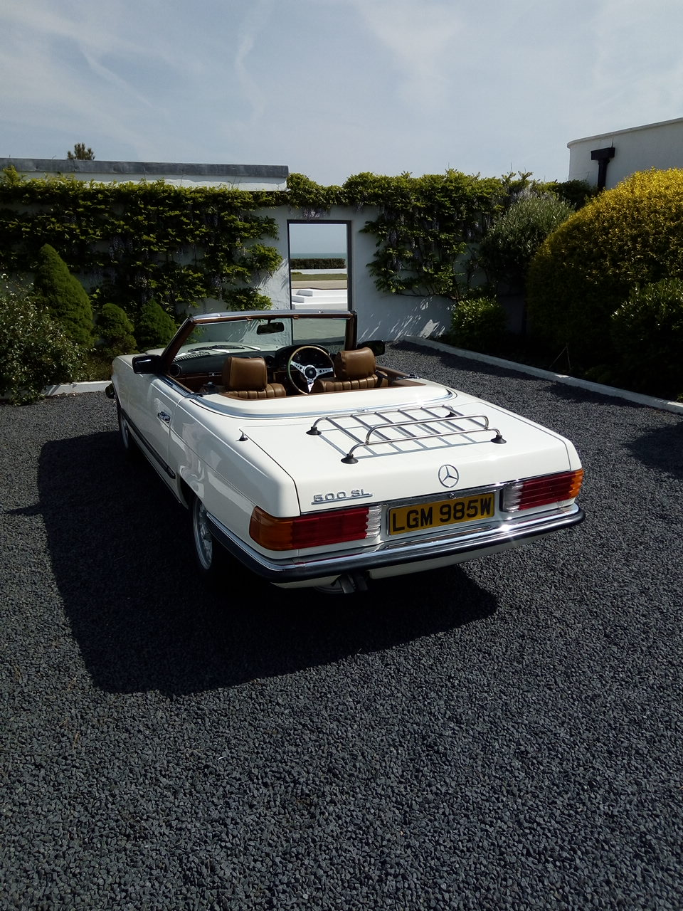 Fashion Shoot Featuring a 1981 Mercedes-Benz R107 500 SL, Restored